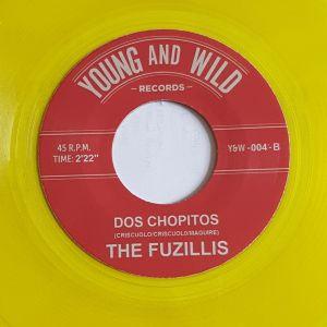 Fuzillis Fireball Twist Dos Chopitos 7 inch clear yellow vinyl single