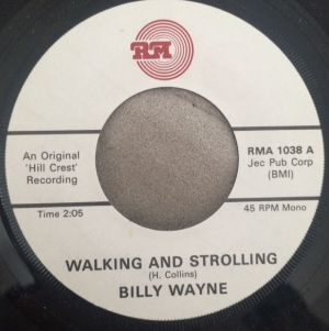 "Walking and Strolling / I Love My Baby 7"" Single (vinyl)"