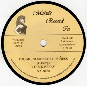 "Too Much Monkey Business 7"" Single (vinyl)"