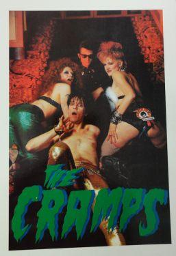Cramps Psychobilly Postcard