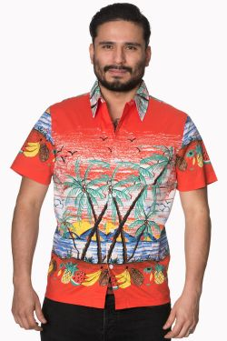 Palm Springs rockabilly shirt at Raucous Records