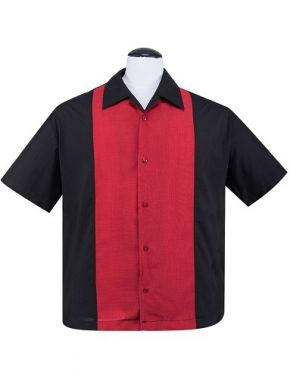 Rockabilly Bowling Shirt with Red Panel
