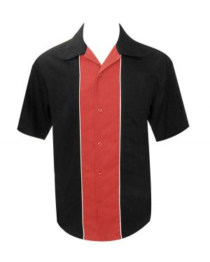 Rockabilly shirt with red panel