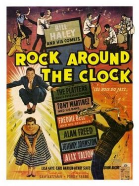 Rock Around The Clock 1950s Movie Poster