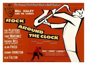 Rock Around The Clock 1950s Movie Poster (Red)
