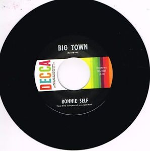 Ronnie Self Big Town Too Many Lovers vinyl single