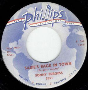"""Sadie's Back In Town + Hayden Thompson: Love My Baby 7"""" Single (vinyl)"""