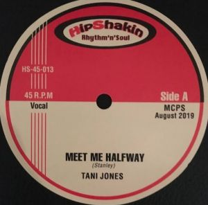 "Tani Jones Meet Me Halfway 7"" single vinyl"