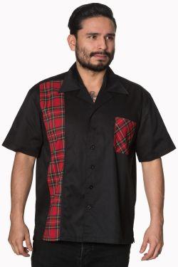 Tartan Panel Rockabilly Shirt at Raucous Records