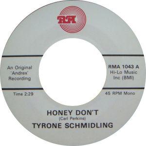 """Honey Don't / You're Gone I'm Left 7"""" Single (vinyl)"""