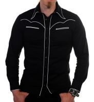 Black Cowboy Style Shirt at Raucous Records