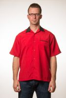 Custom Bowler red bowling shirt